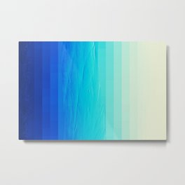 Blue Buffer Metal Print