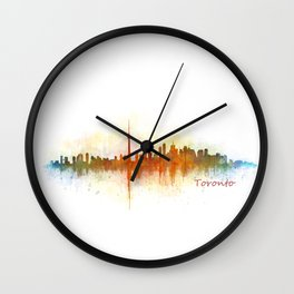 Toronto Canada City Skyline Hq v03 Wall Clock