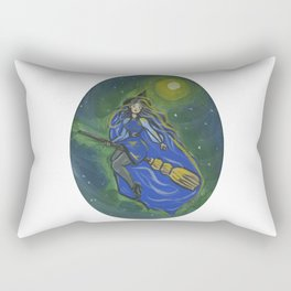 Blue witch Rectangular Pillow