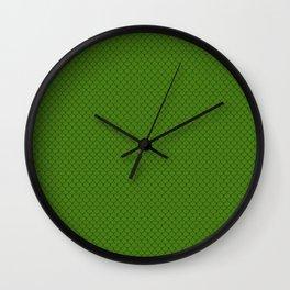 Leaf Green Scales Pattern Design Wall Clock