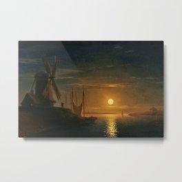 Clair de Lune sur le Dniepr by Ivan Aivazovsky Metal Print