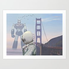 A Very Large Robot Art Print