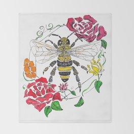 Honey (color) Throw Blanket