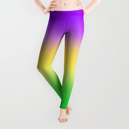 Mardi Gras Ombré Gradient Leggings