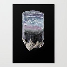 Hand-painted Tourmaline crystal Canvas Print