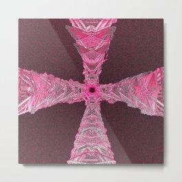 Crystal Ruby Cross Metal Print