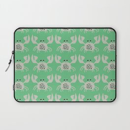 Vintage Crabby Pattern in Green Laptop Sleeve