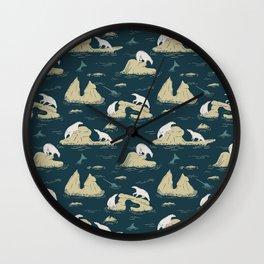 Go North - Navy Wall Clock