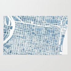 Philadelphia City Map Rug