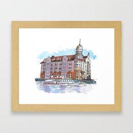 Kaizerhof Hotel, Kaliningrad, Russia Framed Art Print