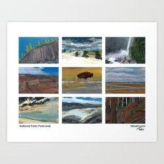 National Parks Postcards Art Print