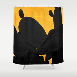 Cactus shadows in the sunset Shower Curtain