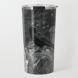 Crow In Shades Of Stone Travel Mug