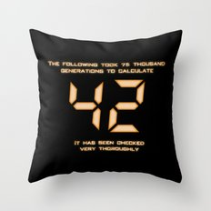 42: The Answer Throw Pillow