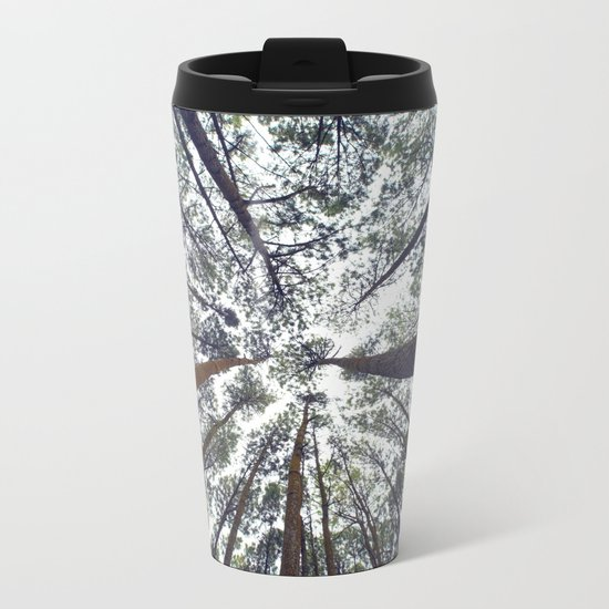 Light Through the Trees Metal Travel Mug