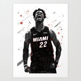 Jimmy Butler Basketball Print Basketball Wall Art Basketball Poster Basketball Wall Decor Poster Art Print