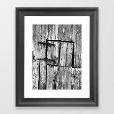 barn window Framed Art Print