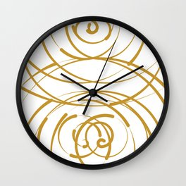 Gold Flow Wall Clock