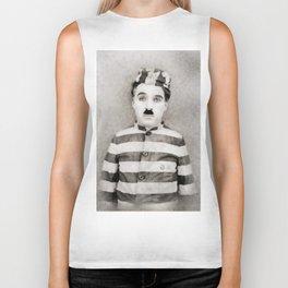 Charlie Chaplin, Vintage Comedian Biker Tank