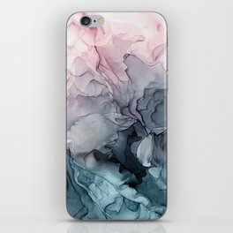 Blush and Paynes Gray Flowing Abstract Reflect iPhone Skin