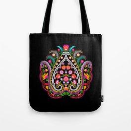 folk damask Tote Bag