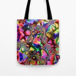 Rainbow Slick Tote Bag
