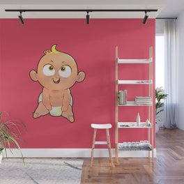 Baby red Wall Mural