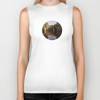 geology Biker Tanks featuring Mystical stone arch by UtArt