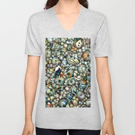 Colorful 3D Abstract Unisex V-Neck