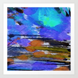 Art Abstraction 1E by Kathy Morton Stanion Art Print