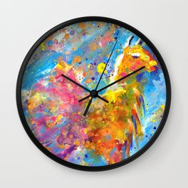 Orange Llama in Pink Tutu Wall Clock
