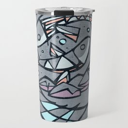 Five breads and two fishes, religious illustration Travel Mug
