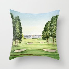 Southern Hills Golf Course 18th Hole Throw Pillow