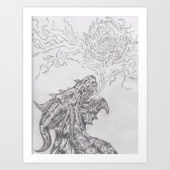 dragon fire artist Art Print