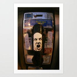 Hollywood Phonebooth Art Print