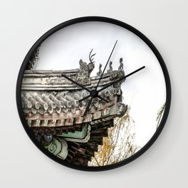 Summer Palace Pavilion Roofline, Beijing Wall Clock
