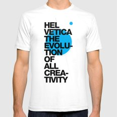 Helveti/ca I White SMALL Mens Fitted Tee