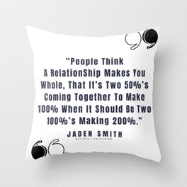 19  |  Jaden Smith Quotes | 190904 Throw Pillow