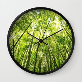 Maui Bamboo Forest Wall Clock