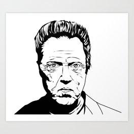 Christopher Walken Art Print