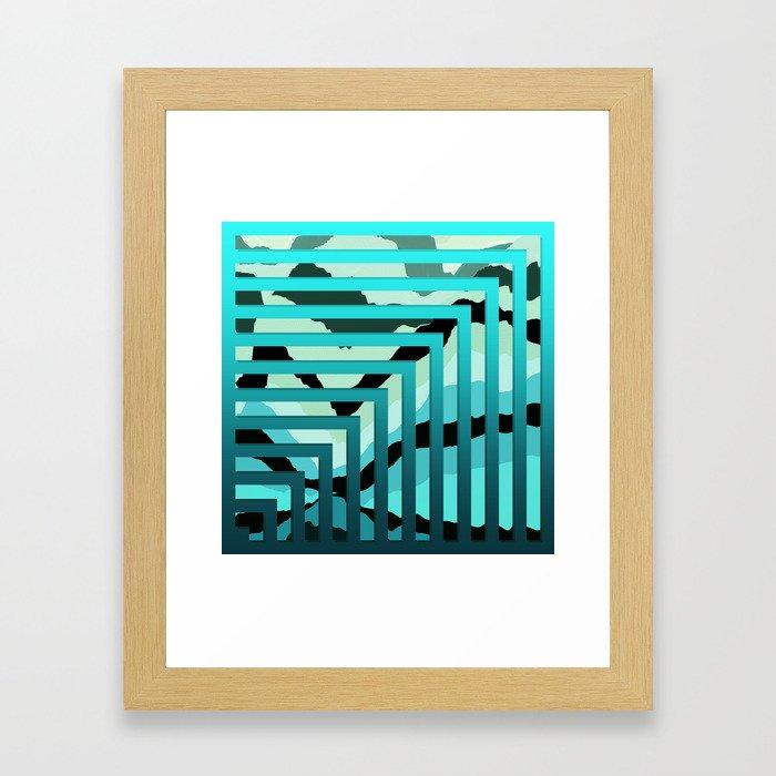 TOPOGRAPHY 2017-007 Framed Art Print