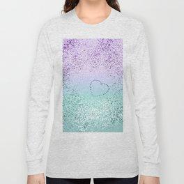 Sparkling MERMAID Girls Glitter Heart #1 #decor #art #society6 Long Sleeve T-shirt