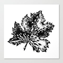 AfetMirzayeva Graphic Ink illustration drawing abstract leaf nature Canvas Print