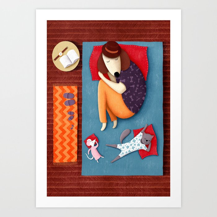 Good Night Sleep Tight | Illustration Art Print