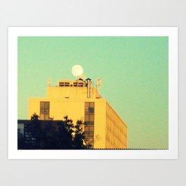 Moon Over Morse Avenue Art Print