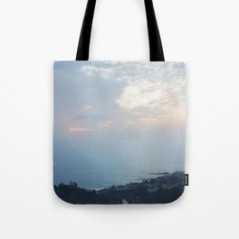 Blue Sunset over the Pacific Tote Bag