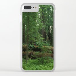 Fallen Tree in The Dense Forest Clear iPhone Case