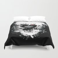 tokyo ghoul Duvet Covers featuring Kaneki Tokyo Ghoul by Prince Of Darkness