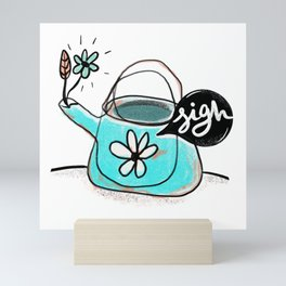 SIGN - Ironic, rustic, quirky art print Mini Art Print