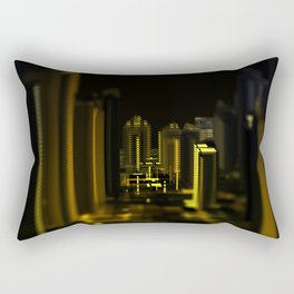 Cityscape at night Rectangular Pillow